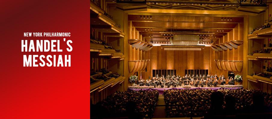 New York Philharmonic - Handel's Messiah at David Geffen Hall at Lincoln Center