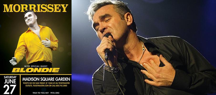 Morrissey Blondie Tickets Calendar Jul 2018 Madison Square Garden New York