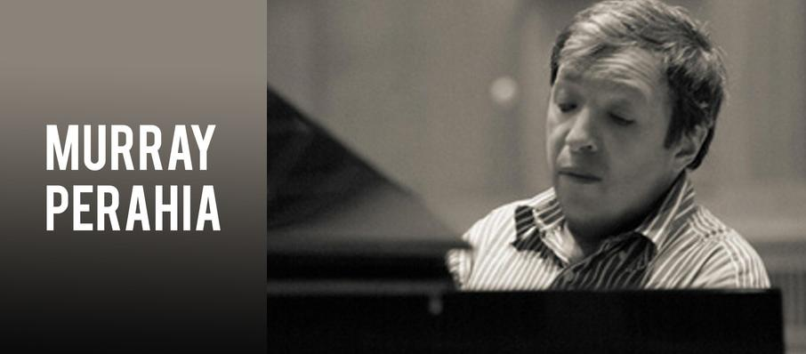 Murray Perahia at Isaac Stern Auditorium