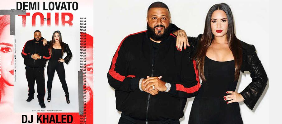 Demi Lovato and DJ Khaled at Barclays Center