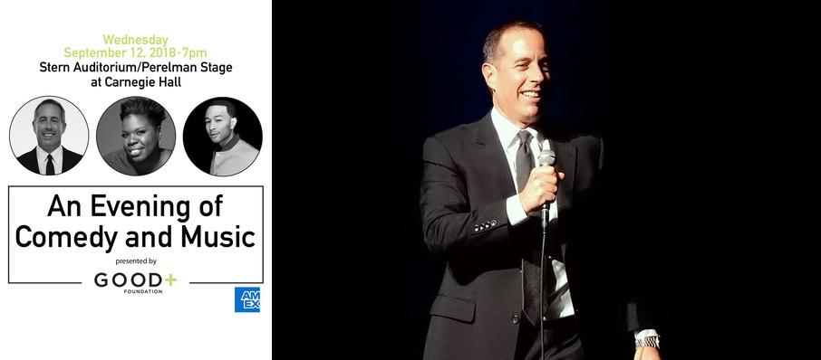 An Evening of Comedy and Music - Jerry Seinfeld, Leslie Jones, and John Legend at Isaac Stern Auditorium