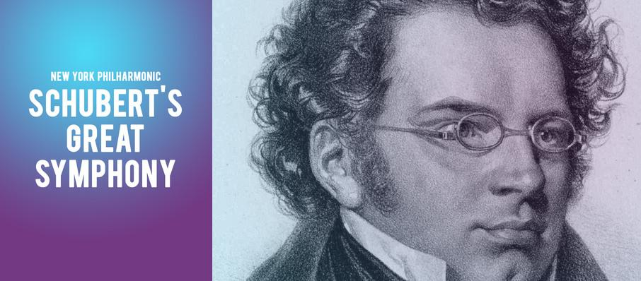 New York Philharmonic - Schubert's Great Symphony at David Geffen Hall at Lincoln Center