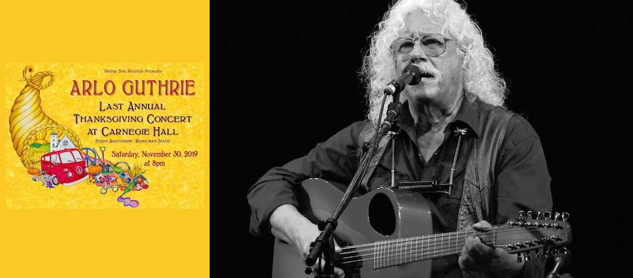Arlo Guthrie's Last Annual Thanksgiving Concert at Isaac Stern Auditorium
