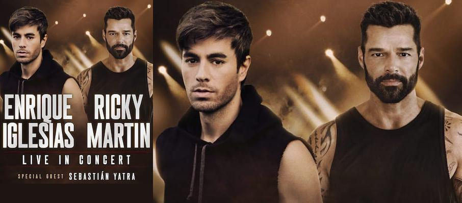 Enrique Iglesias and Ricky Martin at Prudential Center