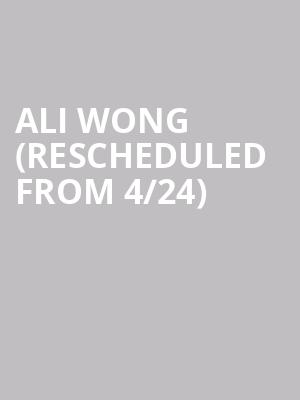 Ali Wong (Rescheduled from 4/24) at Beacon Theater