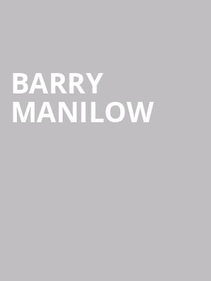 Barry Manilow at Lunt Fontanne Theater