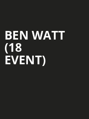 Ben Watt (18+ Event) at Le Poisson Rouge