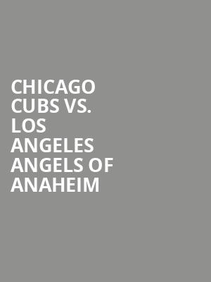 Chicago%20Cubs%20vs.%20Los%20Angeles%20Angels%20of%20Anaheim at 13th Street Repertory Theater