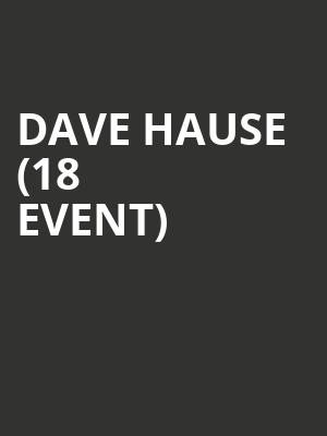 Dave Hause (18+ Event) at Bowery Ballroom