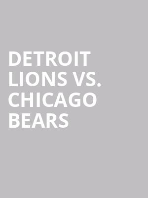 Detroit%20Lions%20vs.%20Chicago%20Bears at Gallery MC