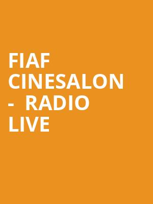 FIAF Cinesalon -  Radio Live at Florence Gould Hall