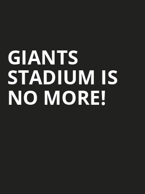 Giants Stadium is no more