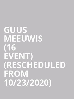 Guus Meeuwis (16+ Event) (Rescheduled from 10/23/2020) at Webster Hall