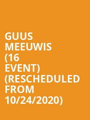 Guus Meeuwis (16+ Event) (Rescheduled from 10/24/2020) at Webster Hall