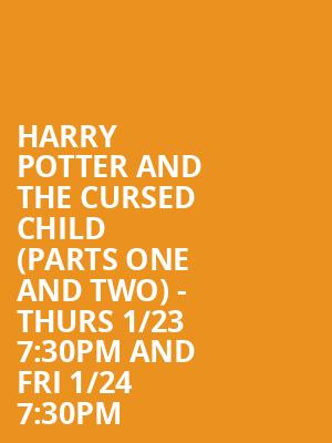 Harry Potter and the Cursed Child (Parts One and Two) - Thurs 1/23 7:30PM and Fri 1/24 7:30PM at Lyric Theatre - Broadway
