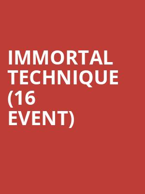 Immortal Technique (16+ Event) at Playstation Theater
