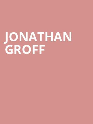 Jonathan Groff at Allen Room