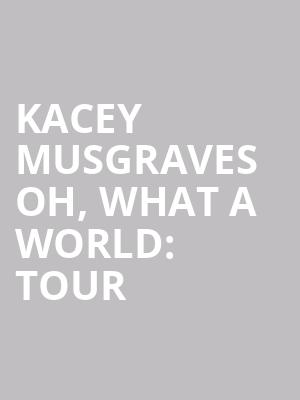 Kacey Musgraves Oh, What A World: Tour at Beacon Theater