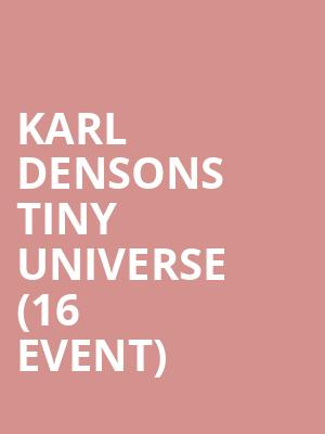 Karl Densons Tiny Universe (16+ Event) at Webster Hall