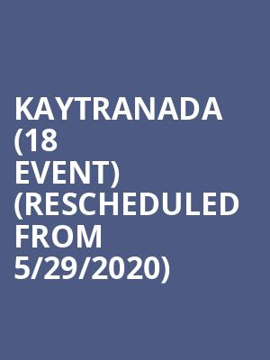 Kaytranada (18+ Event) (Rescheduled from 5/29/2020) at Webster Hall