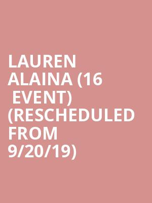 Lauren Alaina (16+ Event) (Rescheduled from 9/20/19) at Bowery Ballroom