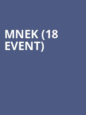 MNEK (18+ Event) at Bowery Ballroom