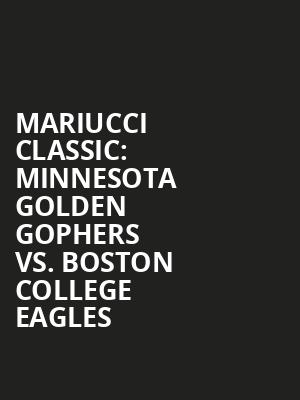 Mariucci%20Classic:%20Minnesota%20Golden%20Gophers%20vs.%20Boston%20College%20Eagles at Theater for the New City
