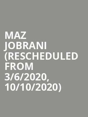 Maz Jobrani (Rescheduled from 3/6/2020, 10/10/2020) at Chase Room