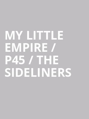 My Little Empire %2F P45 %2F The Sideliners at Mccarter Theatre Center