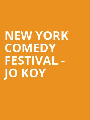 New York Comedy Festival - Jo Koy at Beacon Theater