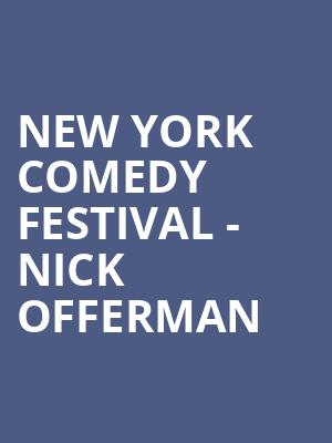 New York Comedy Festival - Nick Offerman at Beacon Theater