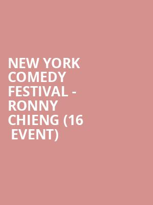 New York Comedy Festival - Ronny Chieng (16+ Event) at Gramercy Theatre