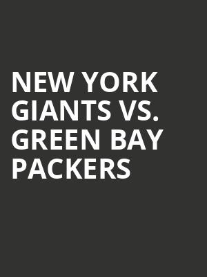 New%20York%20Giants%20vs.%20Green%20Bay%20Packers at MetLife Stadium
