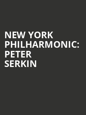 New York Philharmonic%3A Peter Serkin at Avery Fisher Hall