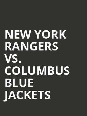 New%20York%20Rangers%20vs.%20Columbus%20Blue%20Jackets at Madison Square Garden