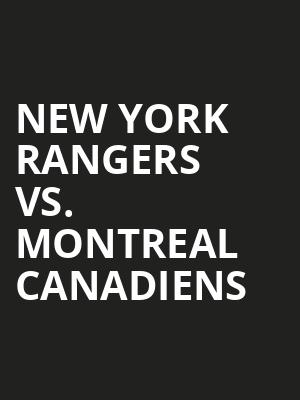 New York Rangers vs. Minnesota Wild at Madison Square Garden