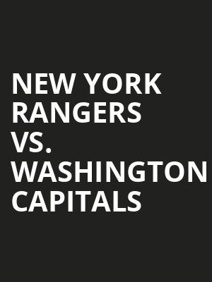 New York Rangers vs. Washington Capitals at Madison Square Garden