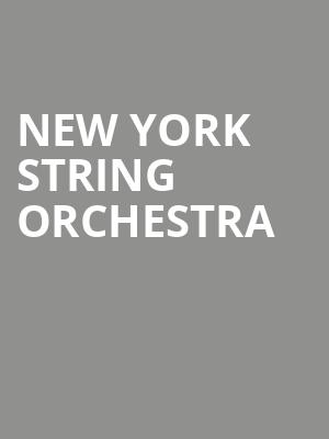 New York String Orchestra at Isaac Stern Auditorium