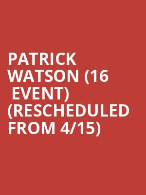 Patrick Watson (16+ Event) (Rescheduled from 4/15) at Webster Hall