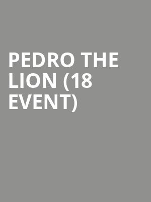 Pedro the Lion (18+ Event) at Bowery Ballroom