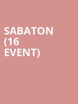 Sabaton (16+ Event) at Playstation Theater