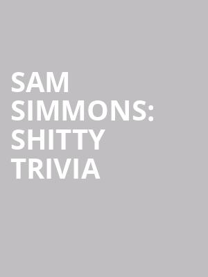 Sam Simmons%3A Shitty Trivia at Mccarter Theatre Center