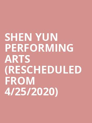 Shen Yun Performing Arts (Rescheduled from 4/25/2020) at Chase Room