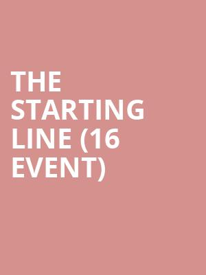 The Starting Line (16+ Event) at Webster Hall