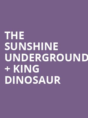 The Sunshine Underground %2B King Dinosaur at The Producers Club