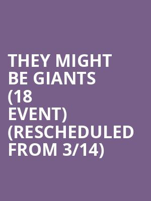 They Might Be Giants (18+ Event) (Rescheduled from 3/14) at Bowery Ballroom