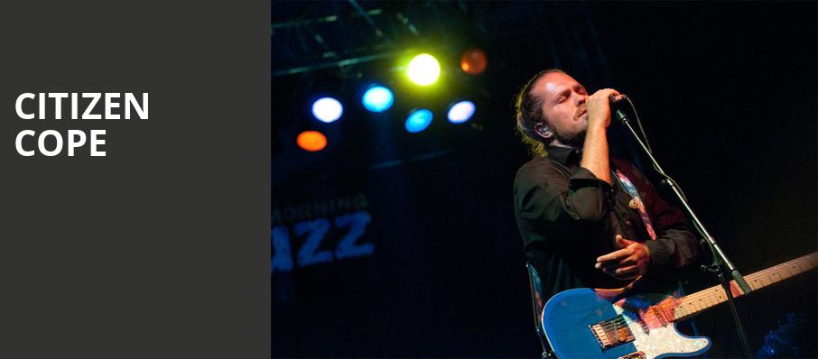 Citizen Cope, Wellmont Theatre, New York