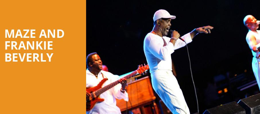 Maze and Frankie Beverly, Prudential Hall, New York