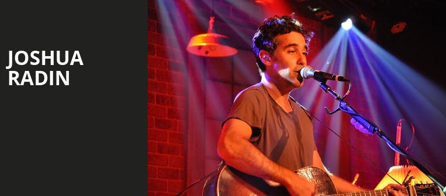 Joshua Radin, Gramercy Theatre, New York