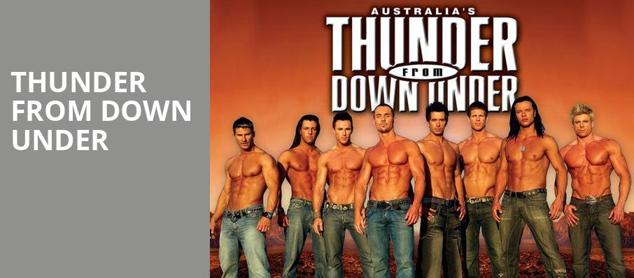 Thunder From Down Under, Paramount Center For The Arts, New York